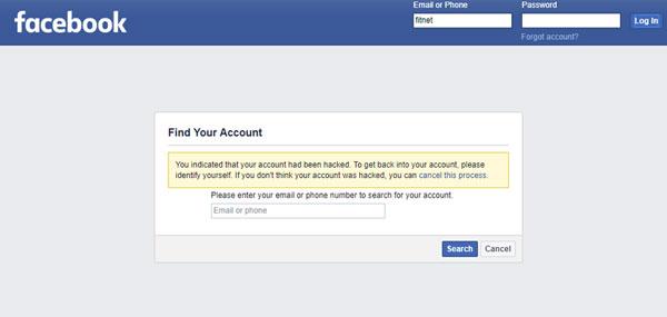 فیسبوک هک شده